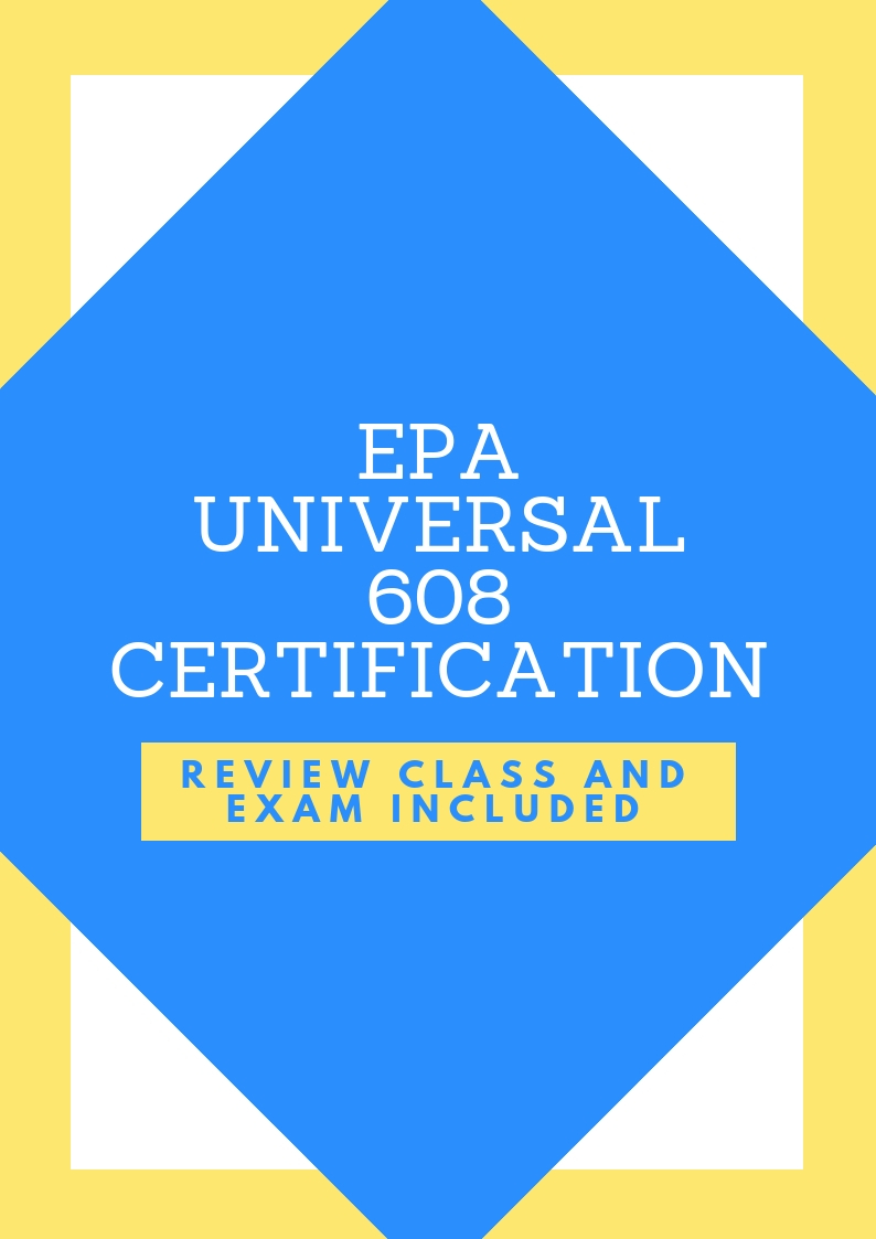 608 Epa Universal Certification Class And Exam Ice Classes