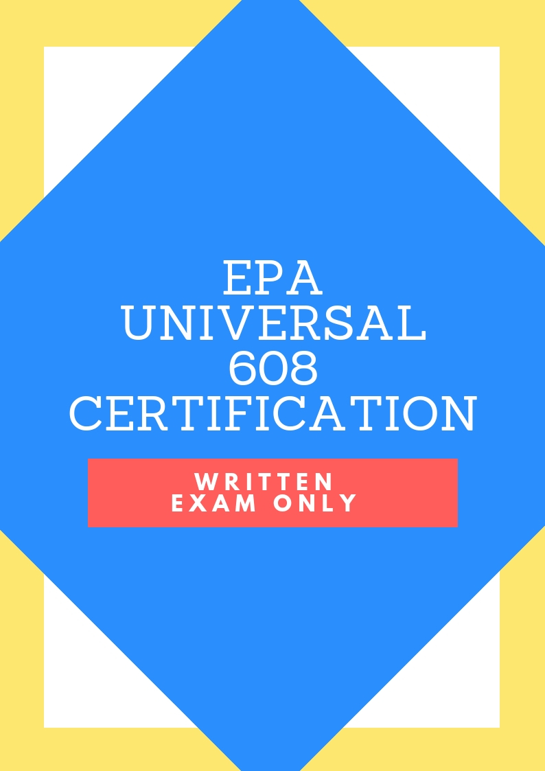 608 Epa Universal Certification Written Exam Only Ice Classes